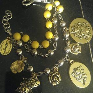 Jewelry - Ed Hardy  Triple charm bracelet